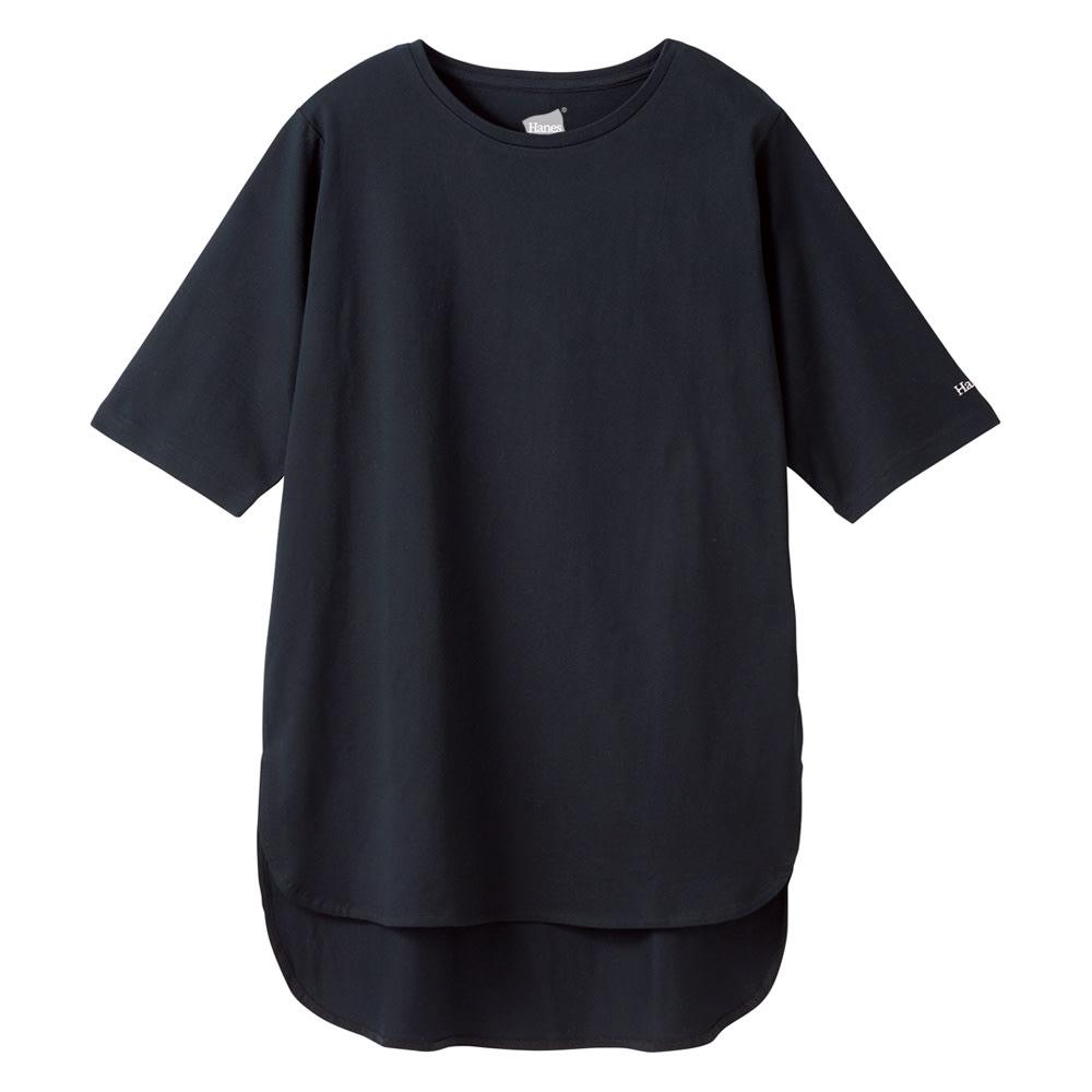 Hanes/ヘインズ 多機能イレギュラーヘムTシャツ (イ)ブラック 夏にうれしい機能満載の新作。