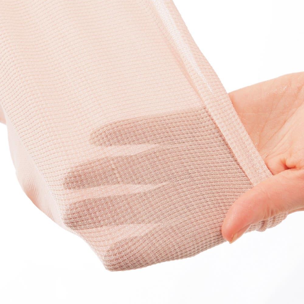 天使のカッペリーニ シルク腹巻 選べる2枚 極細シルク糸を使った薄い素材なので、服にも響きません。