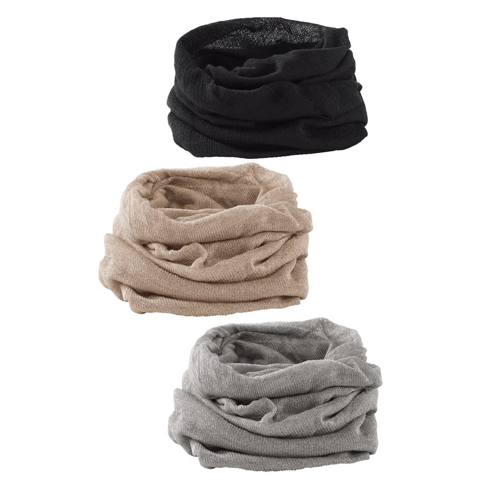 UVカットシルクシリーズ シルク100%UVネックカバー 上から(ウ)ブラック (イ)グレージュ (ア)グレー シルク100%UVネックカバー サラサラの質感も気持ちいい