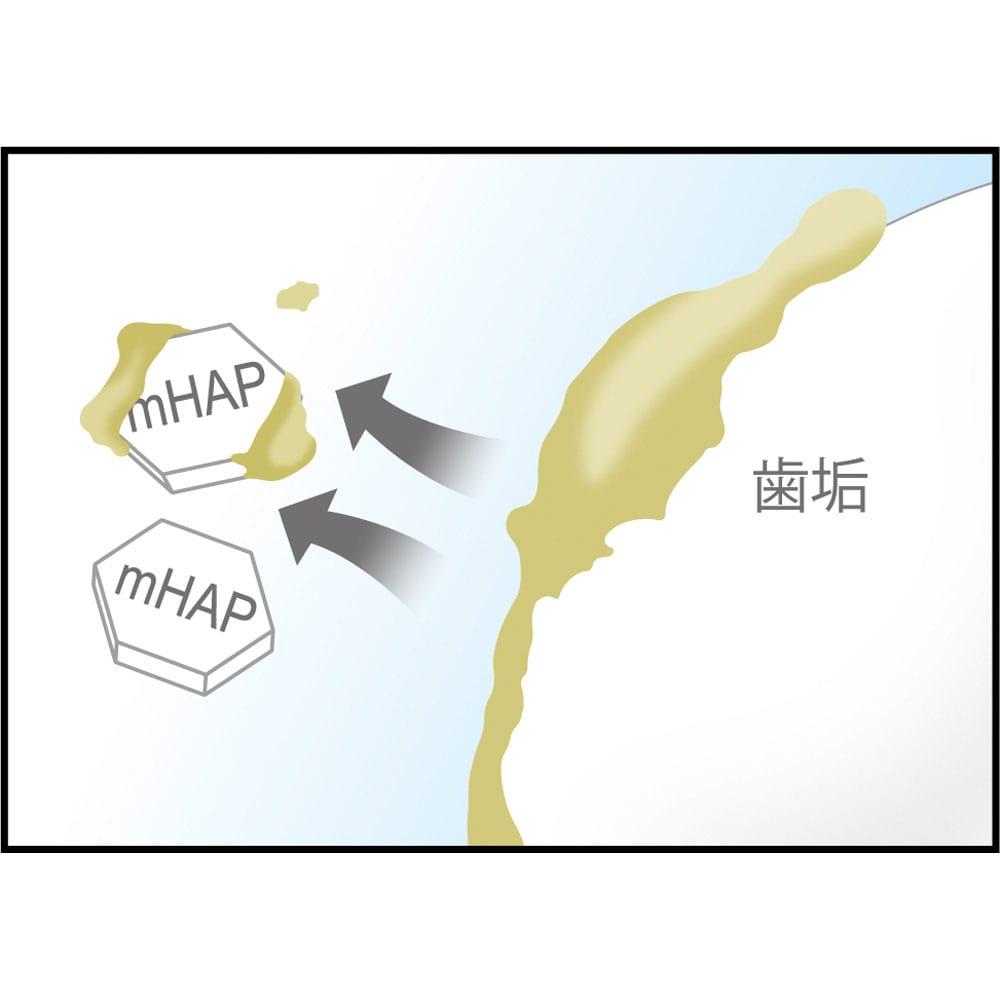 アパガードロイヤル 135g お得な2本組  (1)キレイにする 表面に付着した虫歯の原因となる歯垢を吸着、口内すっきり。 ※イメージ図