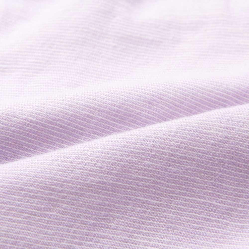 phiten/ファイテン 3重ガーゼ裏起毛パジャマ (イ)パープル・・・生地アップ