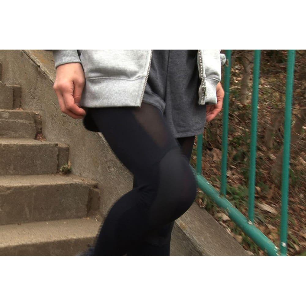 グングンウォークW 年齢を重ねると階段を降りるときヒザがぐらつくことが…。このスパッツでそんな不安を少なくしましょう。