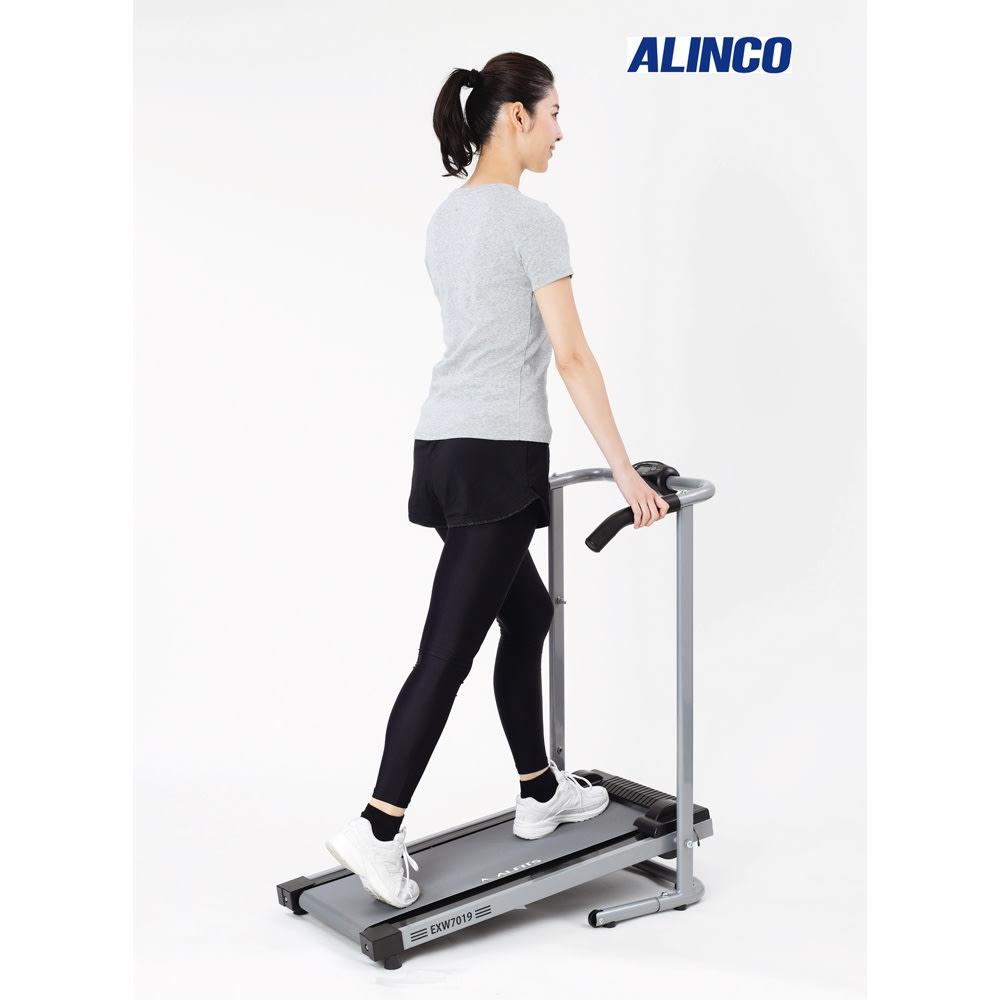 アルインコ/ALINCO 自走式ウォーカーEXW7019 省スペースで運動不足解消 ※使用時は必ずフロアマットを床に敷いてご使用ください。(自走式ウォーカー用フロアマット推奨)