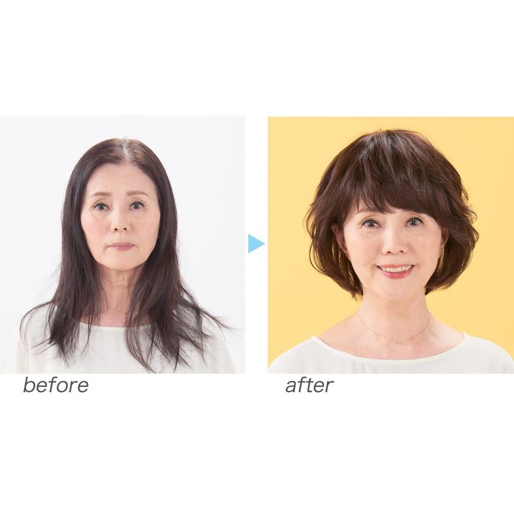坂巻哲也ヘアコサージュ リラクシーカールボブ 髪のボリュームを若々しく一気に解消。(ダークブラウン着用)