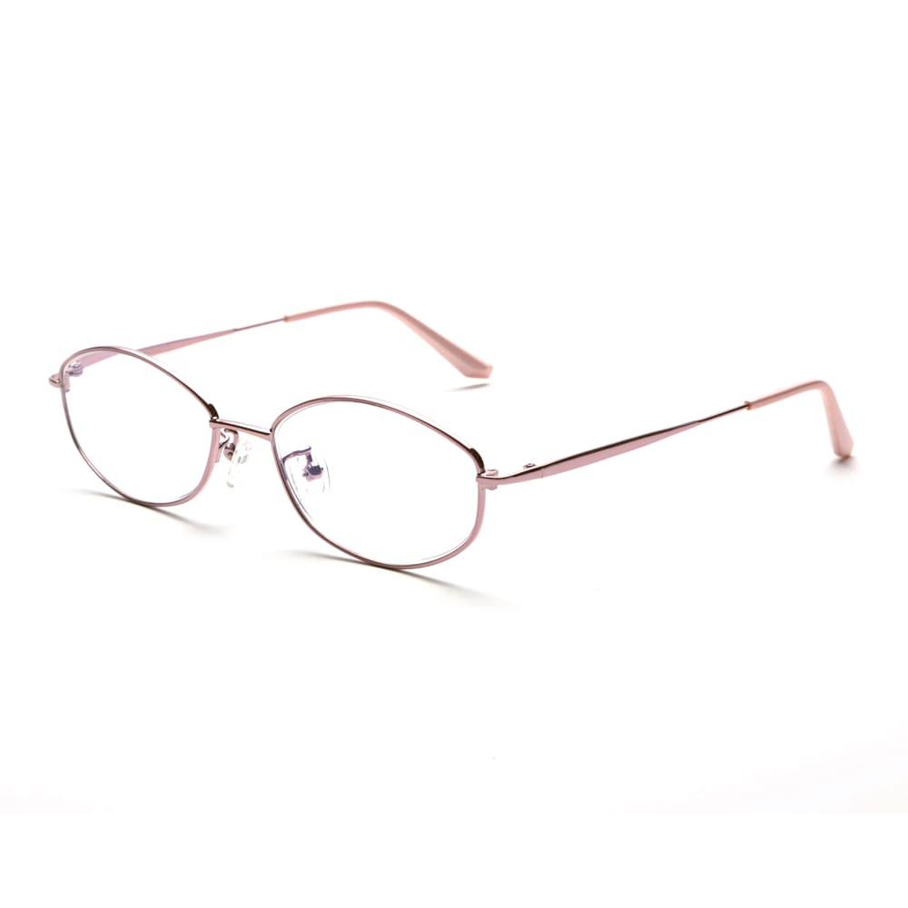 累進多焦点レンズ搭載のシニアグラス「ピントグラス」 (ア)ピンク