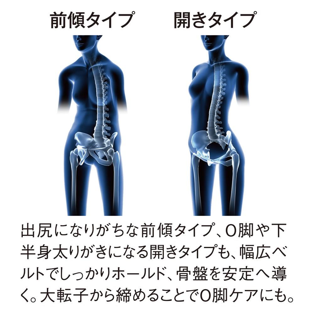 骨盤サポーター 下腹naoss帯(したばらなおすたい) 4重前合わせ仕様 4重にすることで、よりぽっこりお腹へのアプローチを強化。