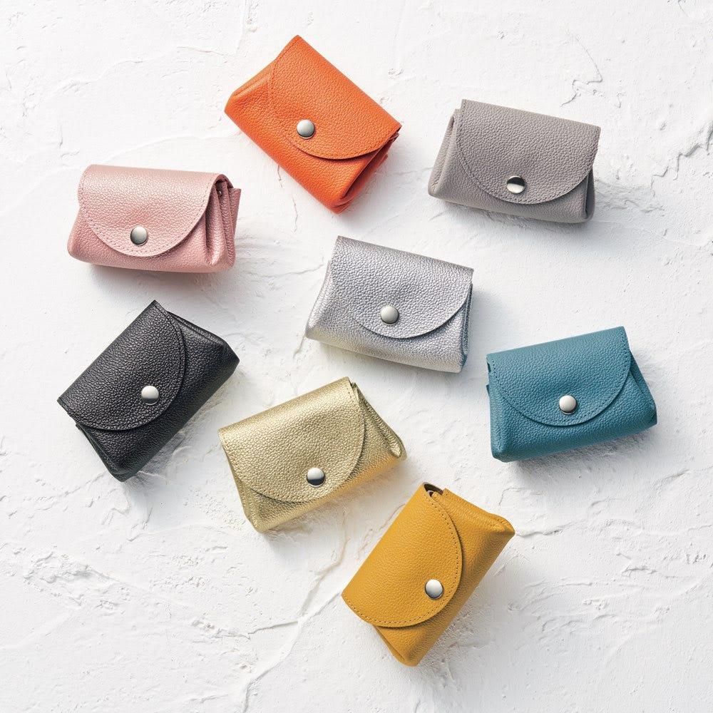 AQUALEATHER(R)/アクアレザー 洗える手乗りミニ財布CORON(コロン) ※シルバー・パールブラックは現在販売しておりません。