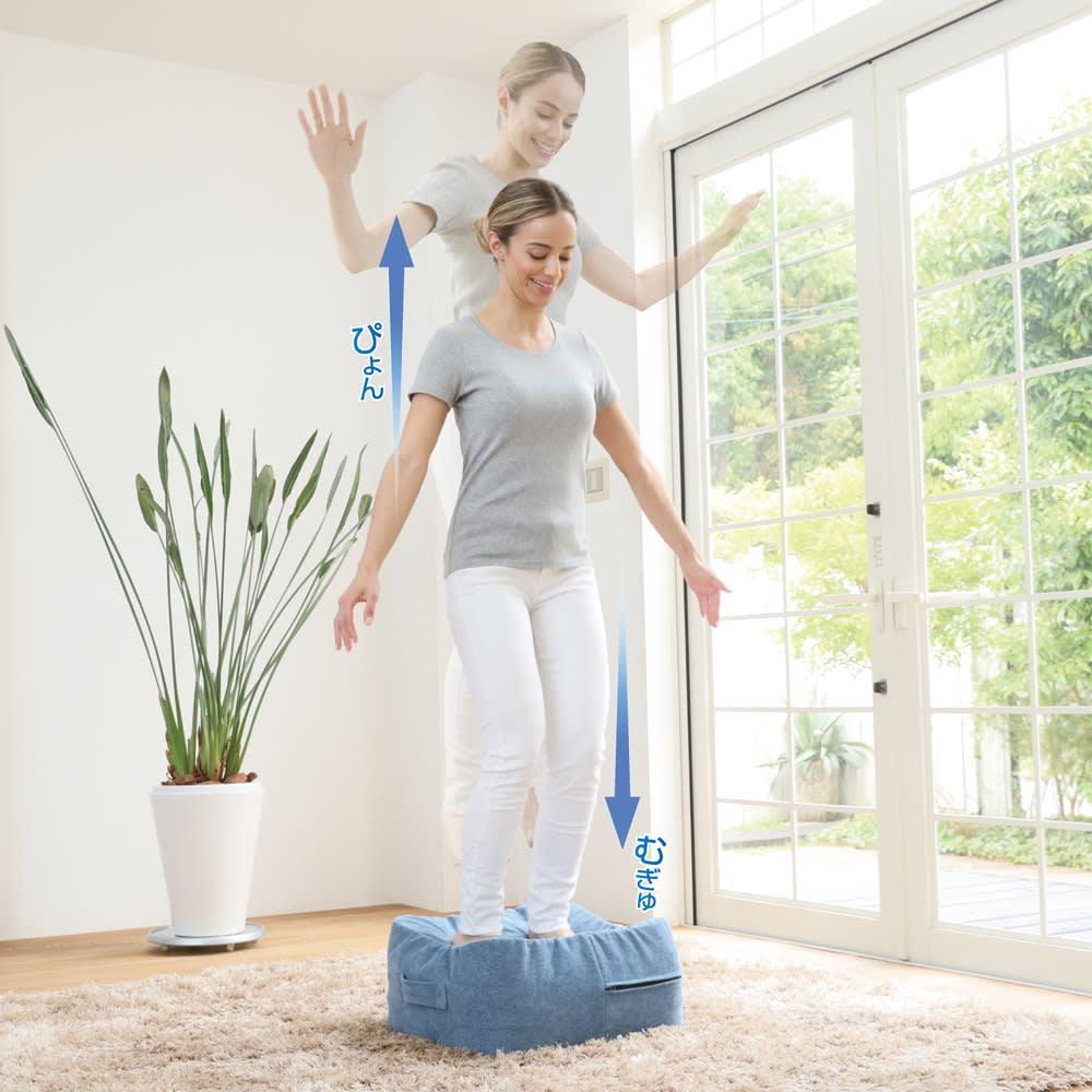 50周年ディノス企画カラー ジムテリア シェイプキュープ (イ)スカイブルー ※裸足でご使用ください。※足のつま先が本体から離れすぎない程度に軽く飛び跳ねてください。