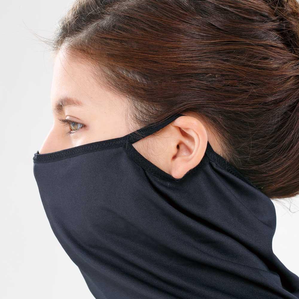 サラリUV ストレッチインナー 耳掛けをすればお顔も覆える仕様。