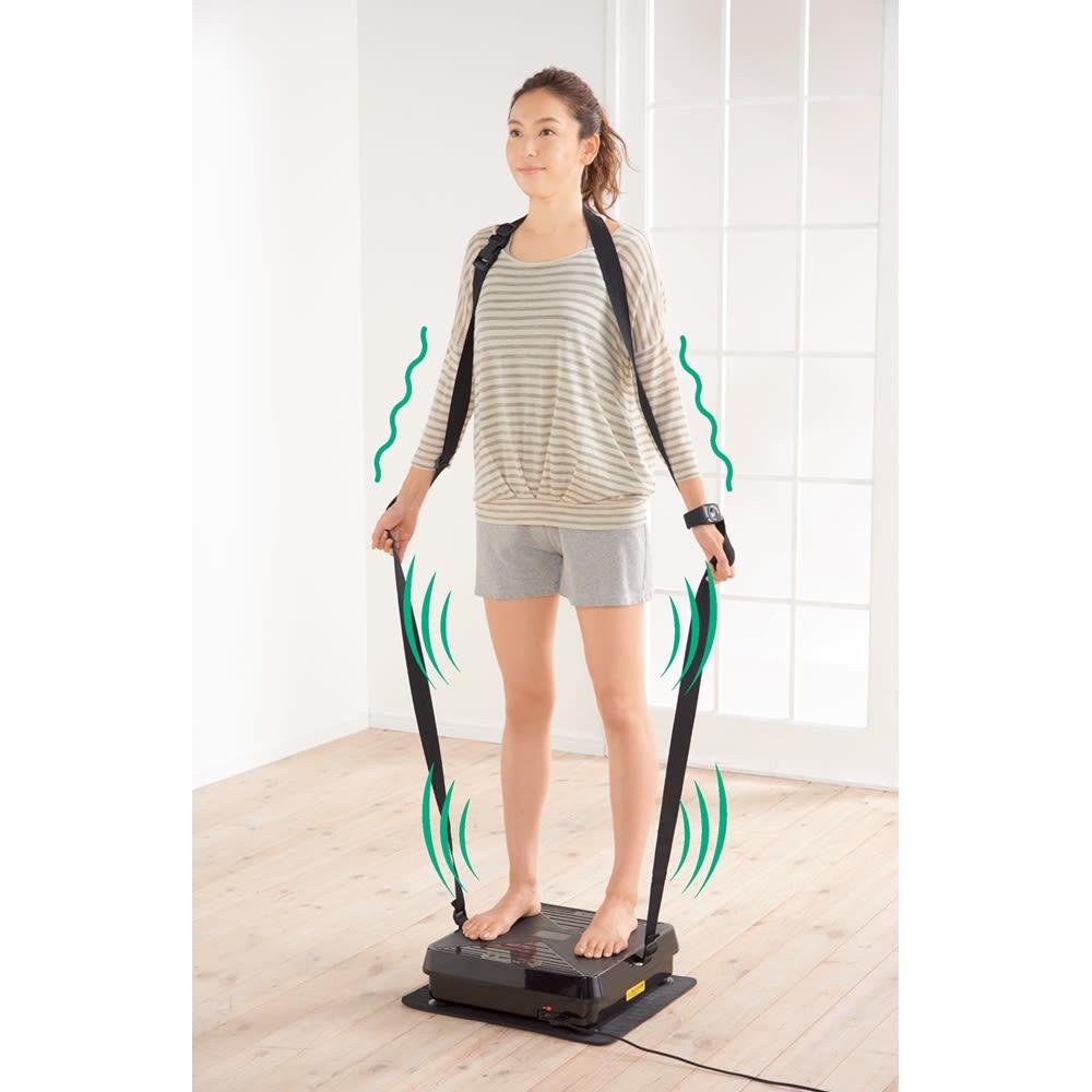 【送料無料】ルルド シェイプアップボード+EMSシートプラス 1分間に約630回の上下振動で筋肉を鍛える ボードに乗って足を踏ん張ることで、下半身を強化。