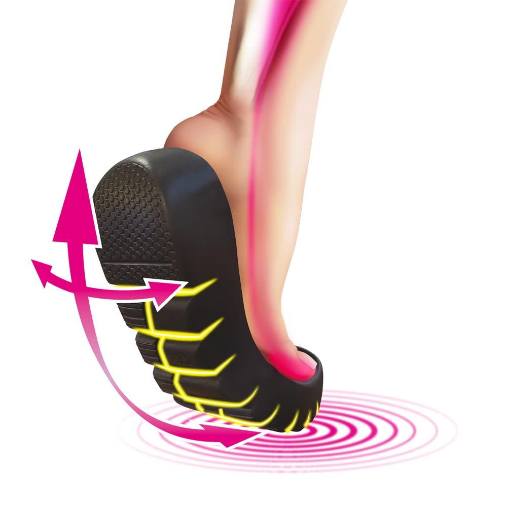【ディノス50周年記念 先行発売】SLIM COACH/スリムコーチ 美脚エナメルサンダル 360°屈曲ラウンドソール