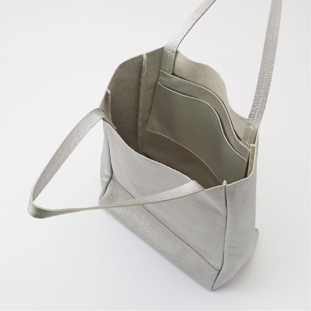 AQUALEATHER(R)/アクアレザー 洗えるたて型トートbag 中見せ