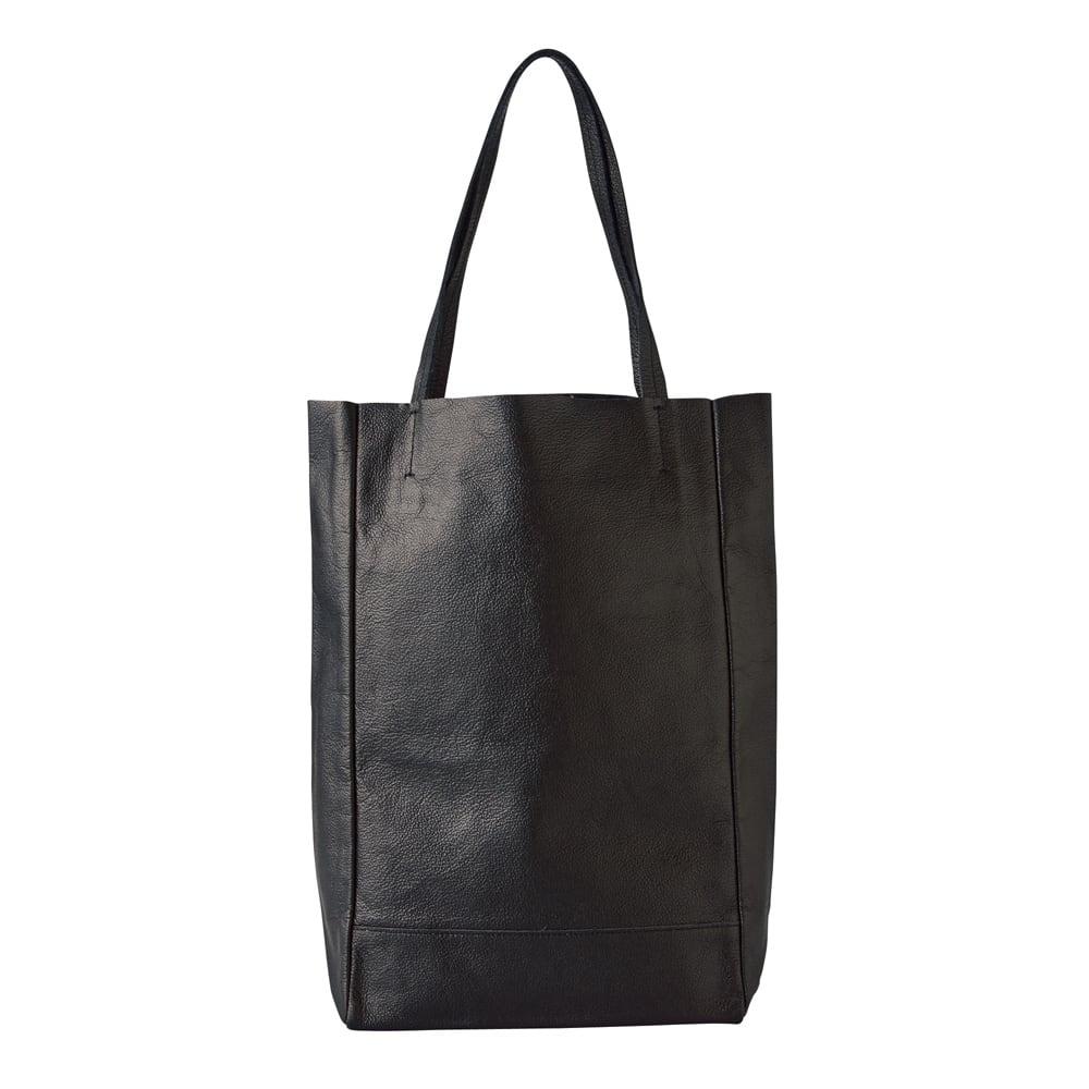 AQUALEATHER(R)/アクアレザー 洗えるたて型トートbag (ウ)ブラック