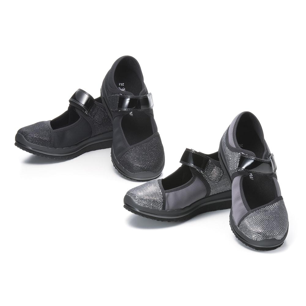 ヌーディウォークパンプススニーカー 履くと良い姿勢とされる「かかと重心姿勢」に導き、履いて歩くことで「自然と筋肉が使えて」スリムを目指せる!新感覚シューズ『ヌーディウォーク パンプススニーカー』が再登場!カラーはコーディネートしやすい定番ブラックと華やかなシルバーの2色。