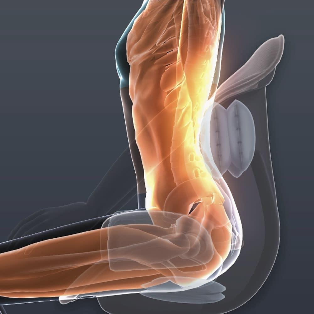 芦屋美整体 骨盤プロリセットエアー 03 ヒップエクサ サイドと座面のエアーバッグが、硬くなりがちなお尻をほぐし骨盤周りを引き締めヒップアップを目指せます。 ※イメージ