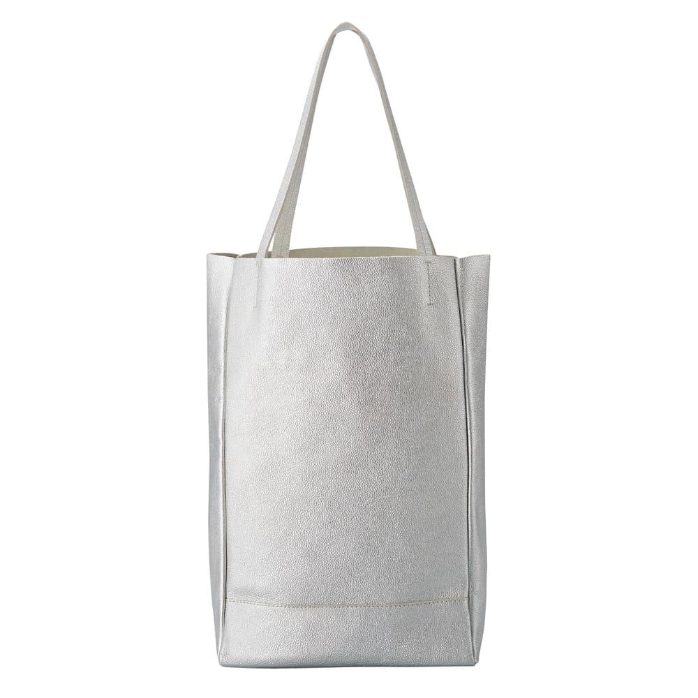 AQUALEATHER(R)/アクアレザー 洗えるたて型トートbag (ア)シルバー