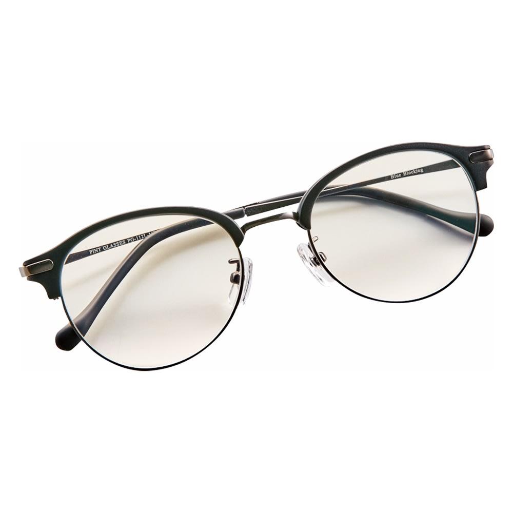 累進多焦点レンズ搭載のシニアグラス 「ピントグラス」 (オ)マットブラック(軽度)