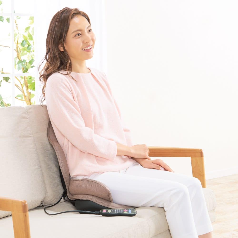 芦屋美整体 骨盤プロリセットエアー いつも座る、その椅子の上で手軽に使えます。※背もたれのある椅子でご使用ください