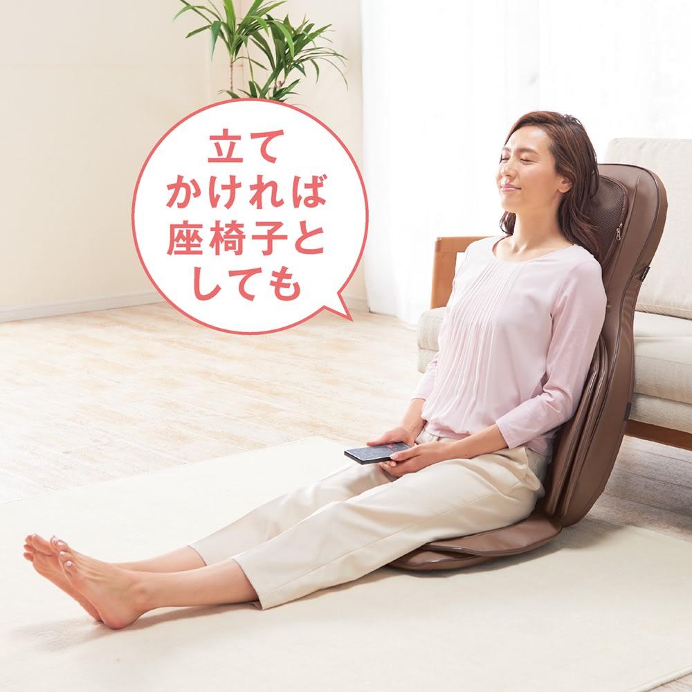 3Dメディカルシート ペルソナ ソファなどに立てかければ座椅子としても使用可能。いつでも気軽にマッサージ♪