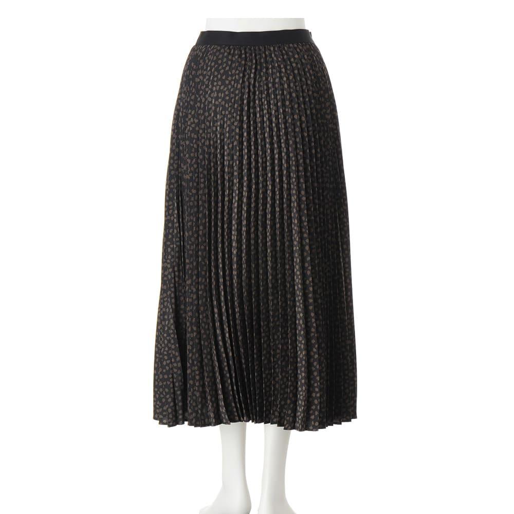 アニマルプリント プリーツ スカート