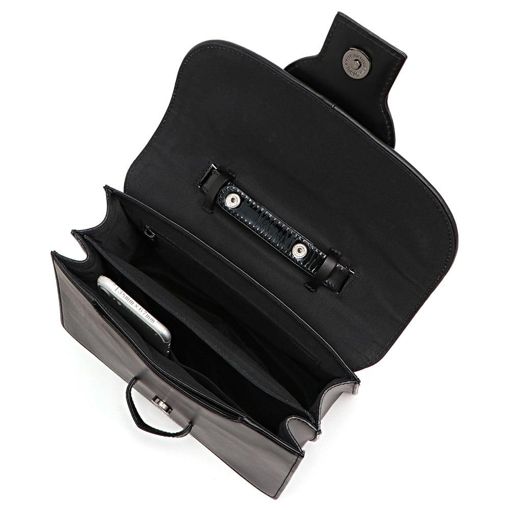 コンビレザー 2WAY バッグ 138mm×67mmスマートフォン 内ポケット収納可