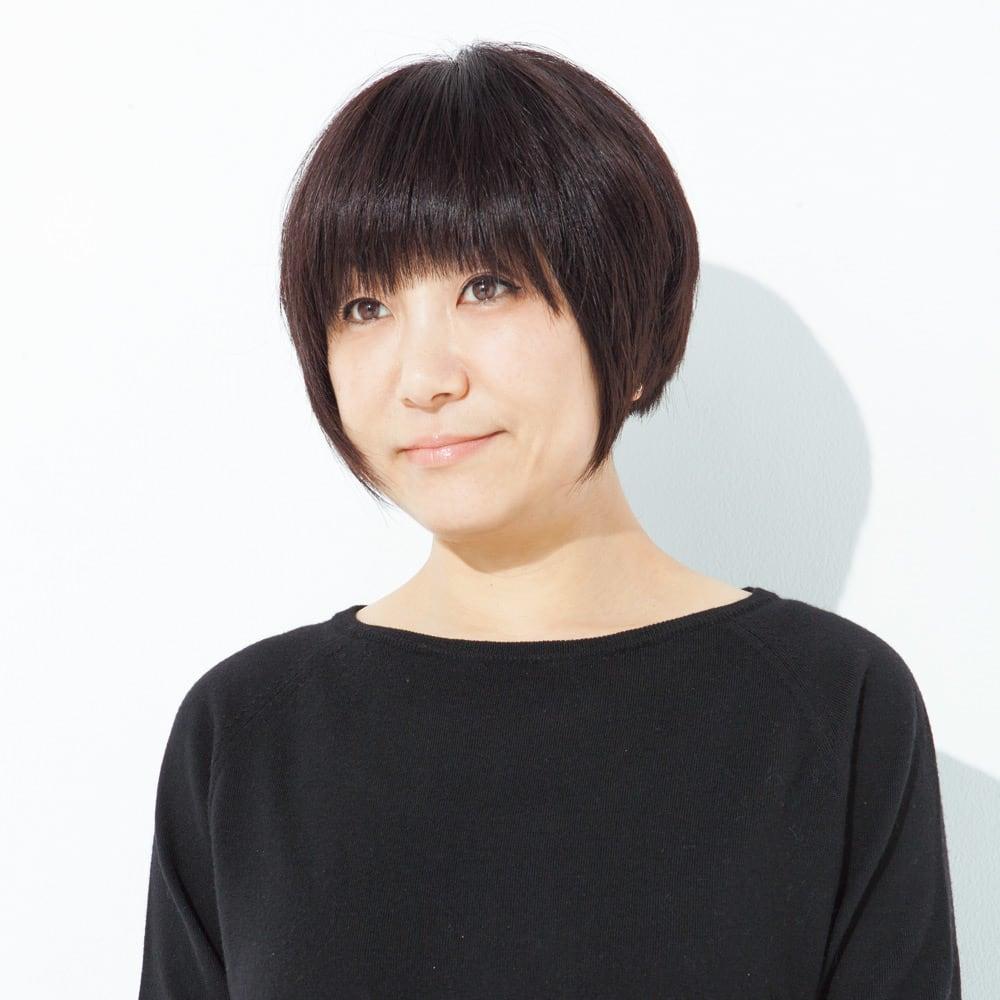 布帛×ニット ドッキング カーディガン スタイリスト&ファッションディレクター 青木貴子