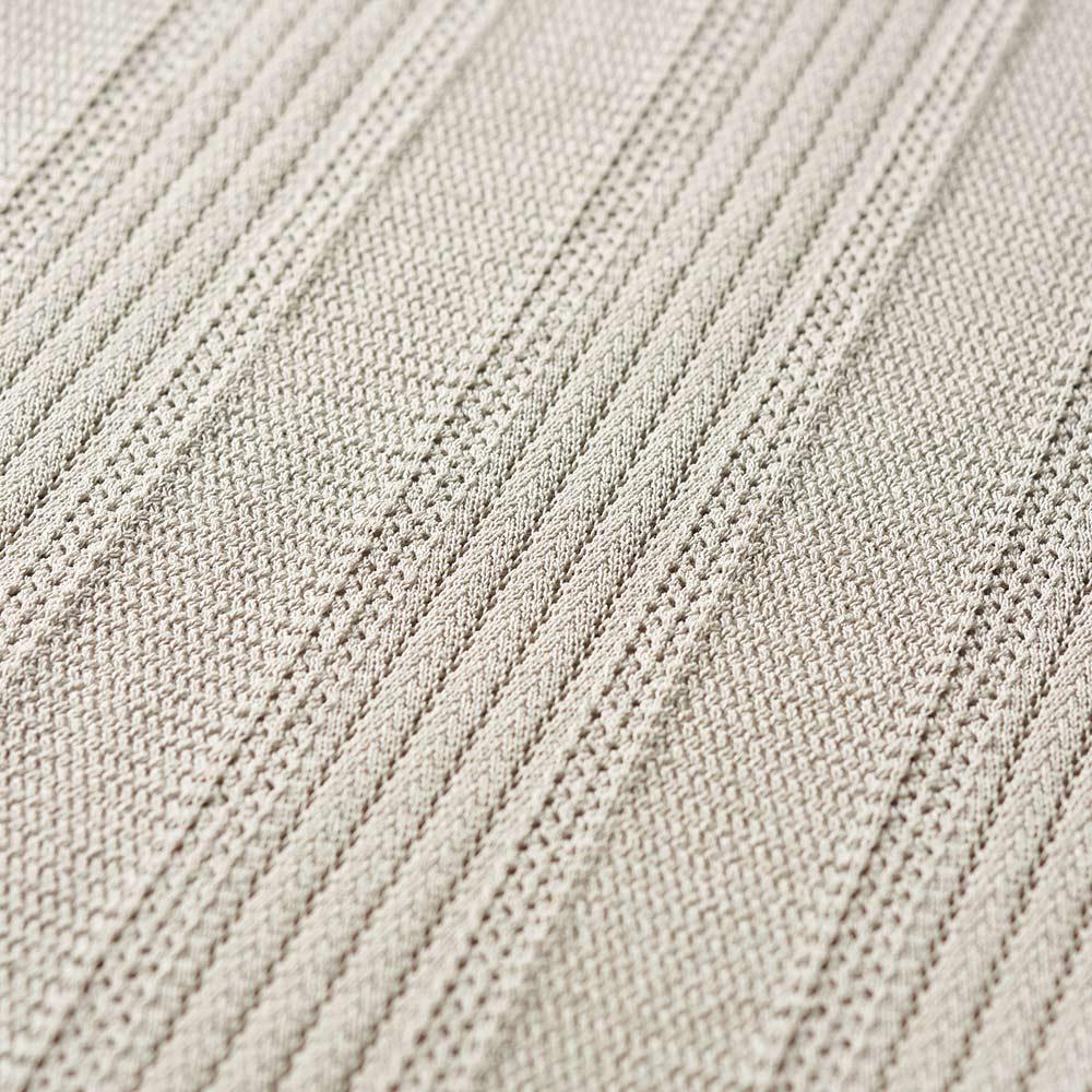 透かし編み ロングチュニック (ア)ベージュ 生地アップ
