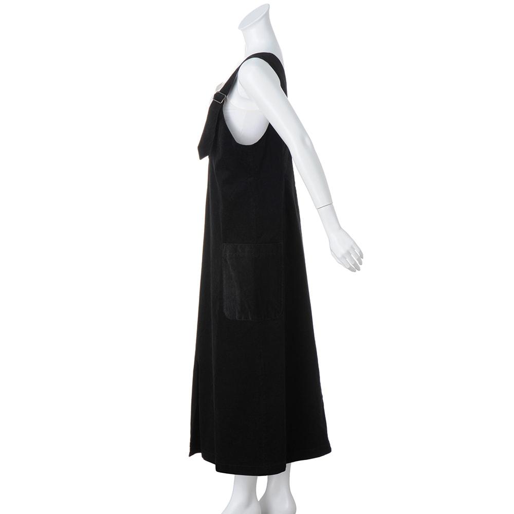 ストレッチコーデュロイロングジャンパースカート