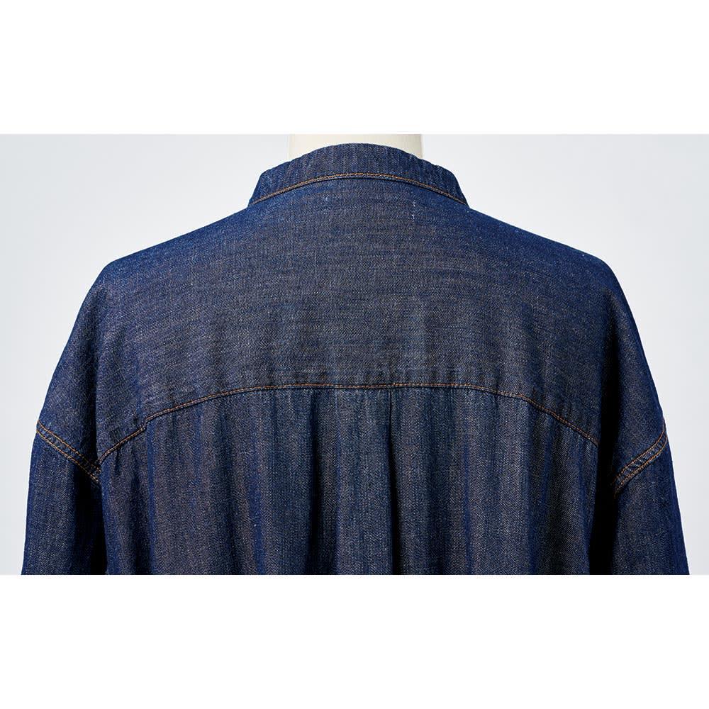 ニコちゃん刺繍デニムワンピース Back Style
