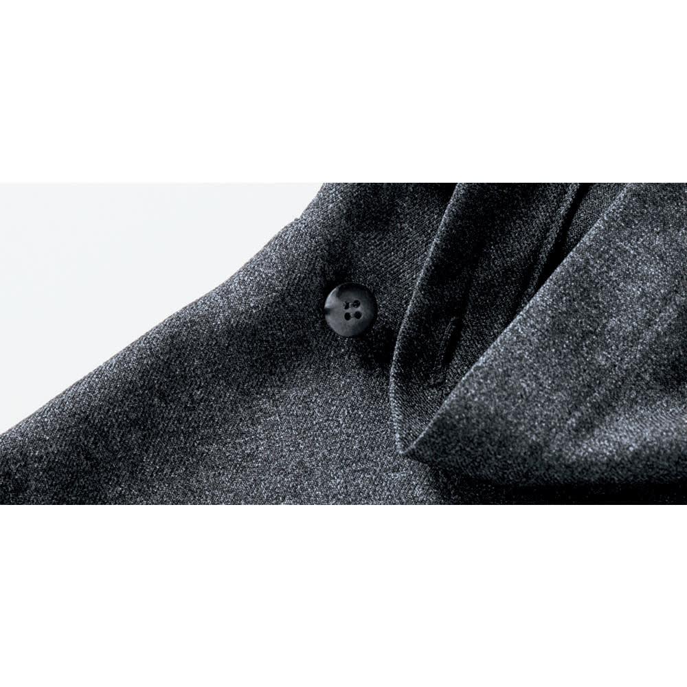 bx/ビーエクス ソフトサージ オフネックフレアーワンピース (イ)チャコールグレー 首元ボタン付き