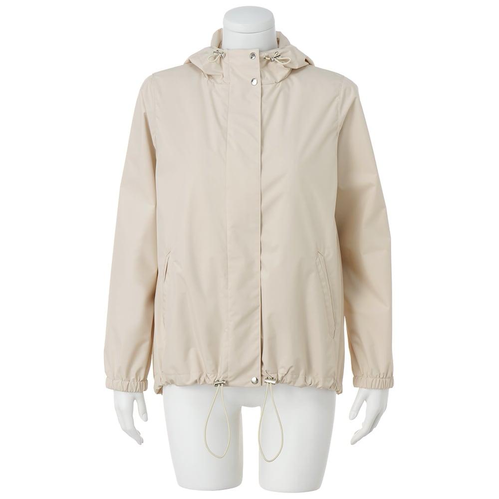 リモンタ イースト社 中わた ライナー付き はっ水・透湿・防風 ショートコート フード・裾周りドローストリング仕様