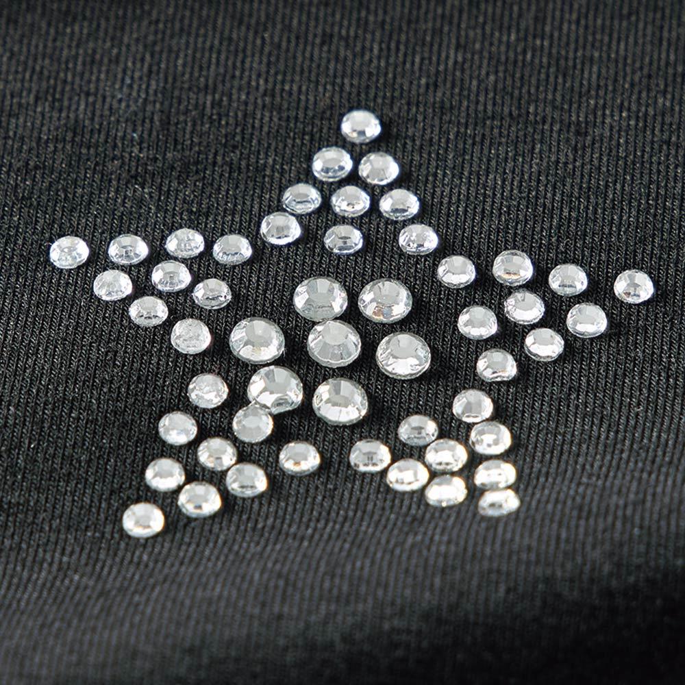 ラインストーン付き 布帛切り替え ジャージー ワンピース ラインストーンの星柄