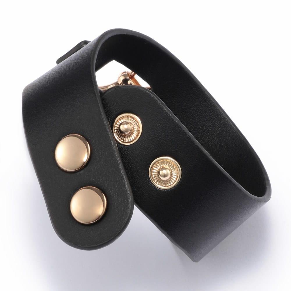 ABISTE/アビステ メタルチェーン風 ブレス ボタン式