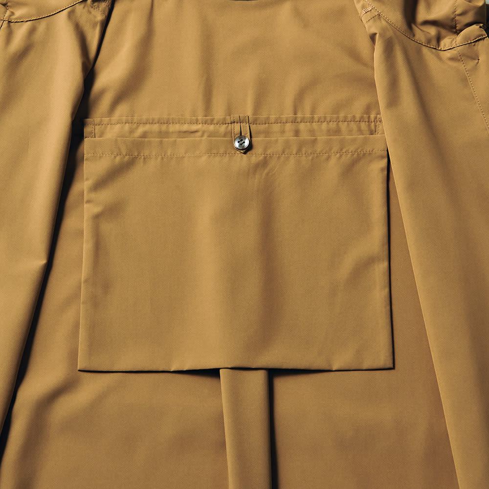 ポケッタブル 撥水 ライトフード付きコート ポケッタブル袋付き