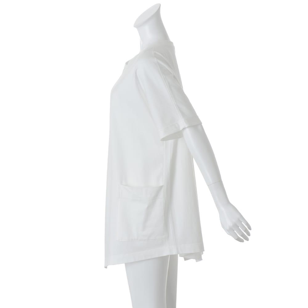 bx/ビーエクス 40双糸 クルーネック ビッグTシャツ 【参考画像】SIDE ※今回こちらの色のお取り扱いはございません。