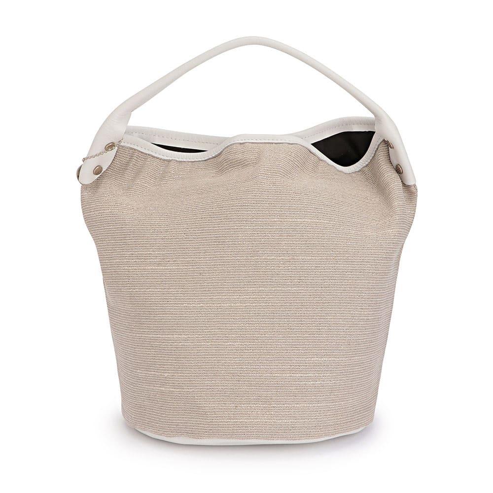 LAURA DI MAGGIO(R)/ラウラ ディ マッジオ スターモチーフ ワンハンドル バッグ(イタリア製) (ア)ホワイト系 BACK