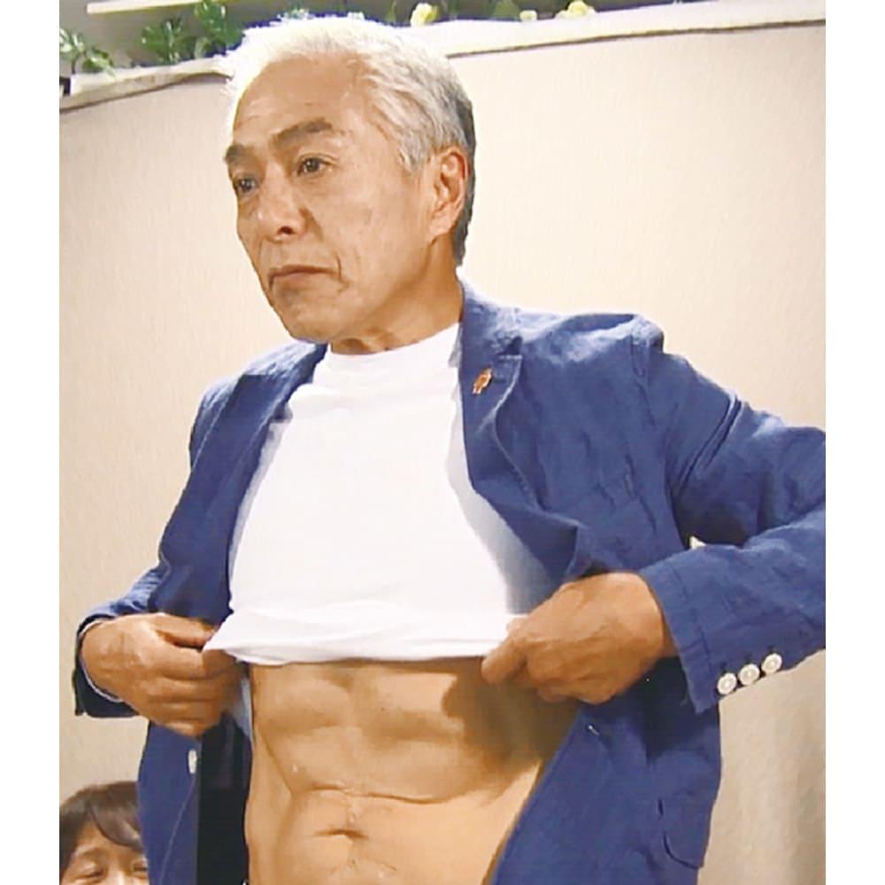 バタフライアブス スターターセットのお得な2個セット ご愛用者 斎藤竜二さん(63歳) お腹が引き締まり、人前で見せても恥ずかしくない身体に。ぜひオススメしたい商品です。 ※個人の感想です。