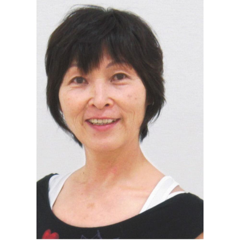姿勢インストラクター ブラカップ付きキャミ スポーツ指導歴40年 青木ファミリー代表 青木 美樹さん