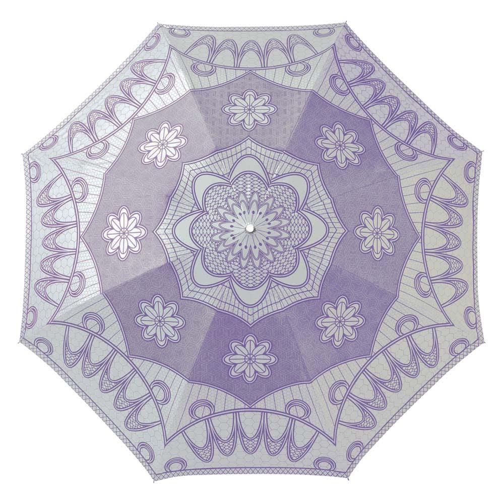 遮光涼感UVエレガント折りたたみ傘 (ウ)ラベンダー  約105cm