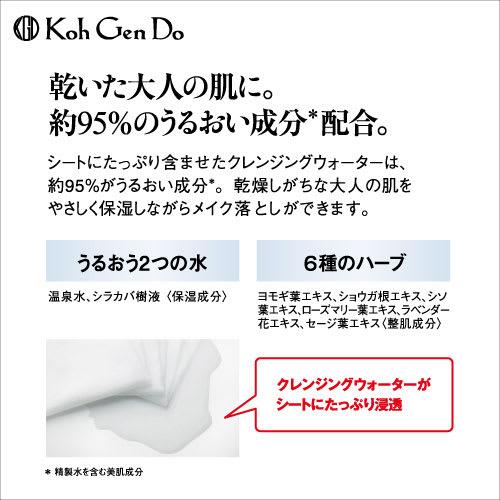 江原道 クレンジングシート (60枚入り) 乾いた大人の肌に。約95%のうるおい成分(※精製水を含む美肌成分)配合