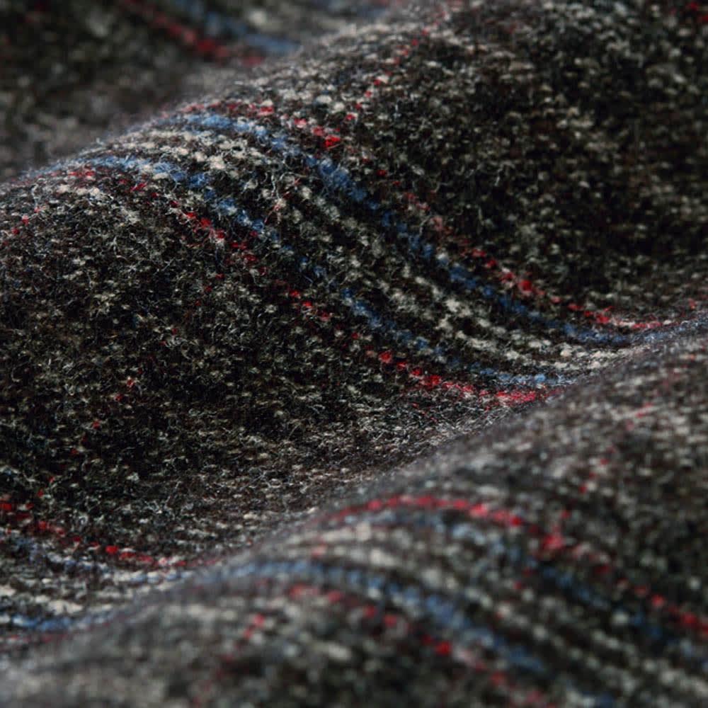 グレンチェック裏起毛ワイドパンツ(日本製) しっかり肉厚の素材を、裏起毛でポカポカに。