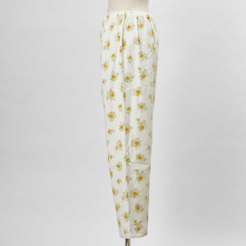 綿毛布シャツパジャマ(日本製) (イ)クリーム・・・パンツSIDE