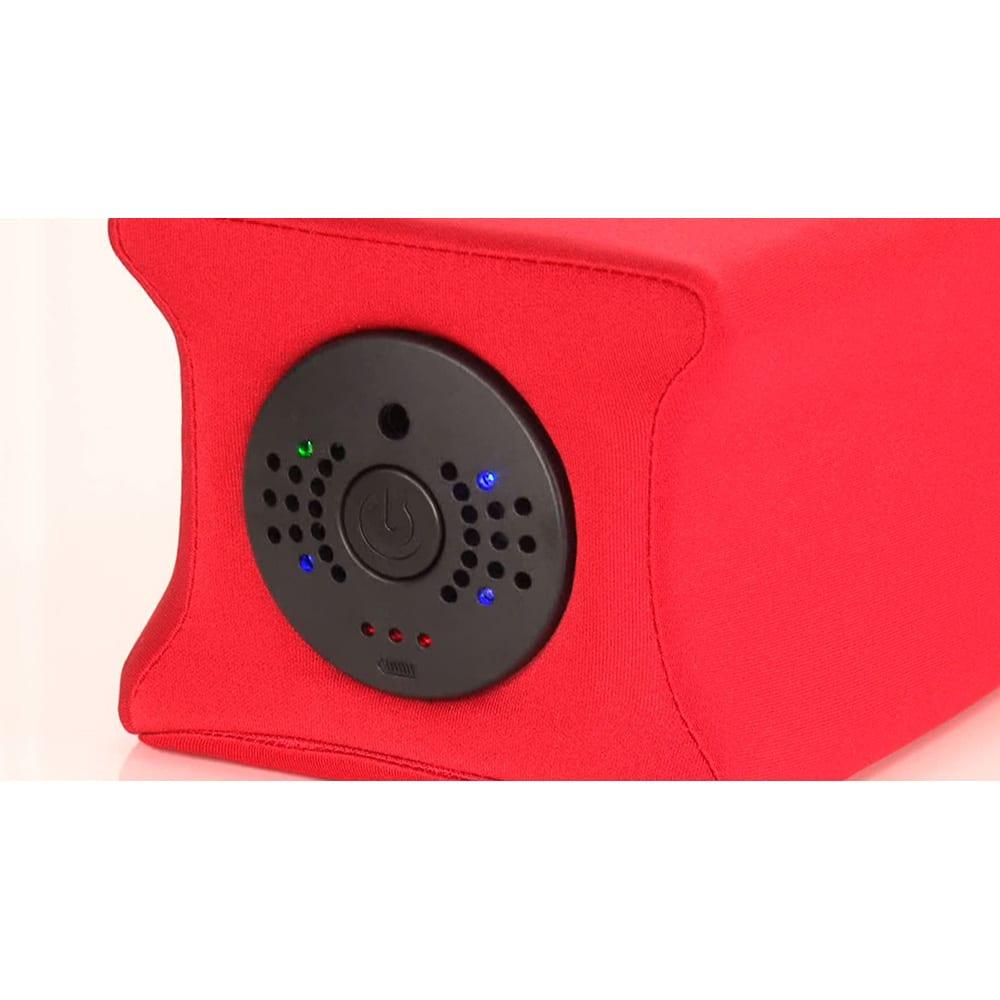 ジェットスリムボディ 〈スイッチ〉中央のスイッチを押すと電源が入り、スイッチを押すごとにモードが変化します。