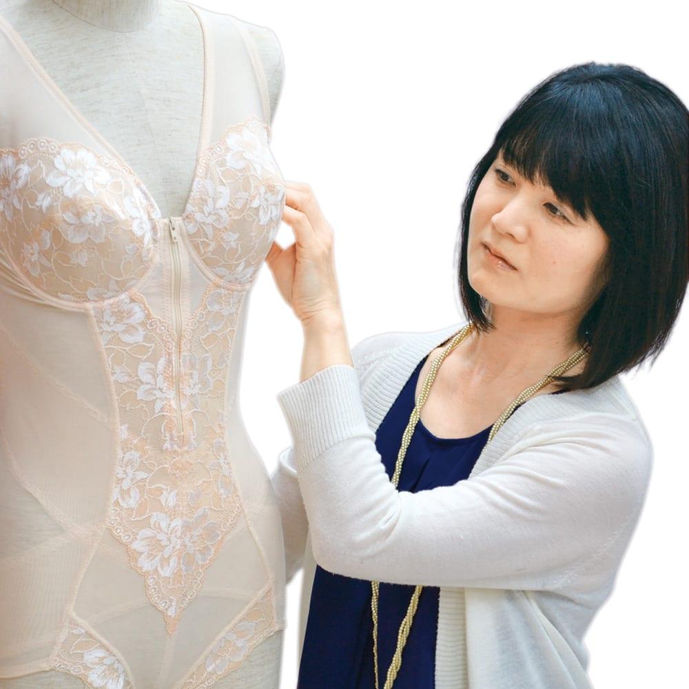 即効着やせボディスーツ (90~95サイズ) 株式会社ファニー ボディメイクデザイナー 小野寺裕子 デザイナー歴17年