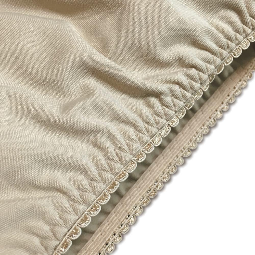 ガウチョ用楽ちんペチパンツ 裏起毛タイプ 2枚組   裾はしっかり留まるピコゴム仕様。