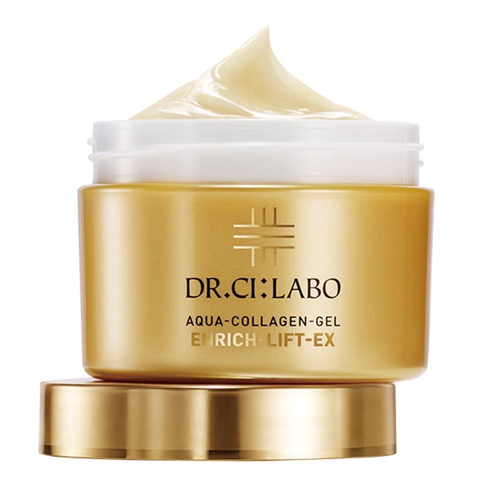 シーラボ アクアコラーゲンゲル エンリッチリフトEX 50g アクアコラーゲンゲルエンリッチリフトEX トータルコラーゲンサイエンス※のアプローチで、すみずみまでハリ感あふれる肌へ導きます。 ●無香料 ●無合成着色料 ●無鉱物油 ●パラベンフリー ●植物由来の精油を使用 ●アルコール無添加 ※ドクターシーラボの独自仕様として