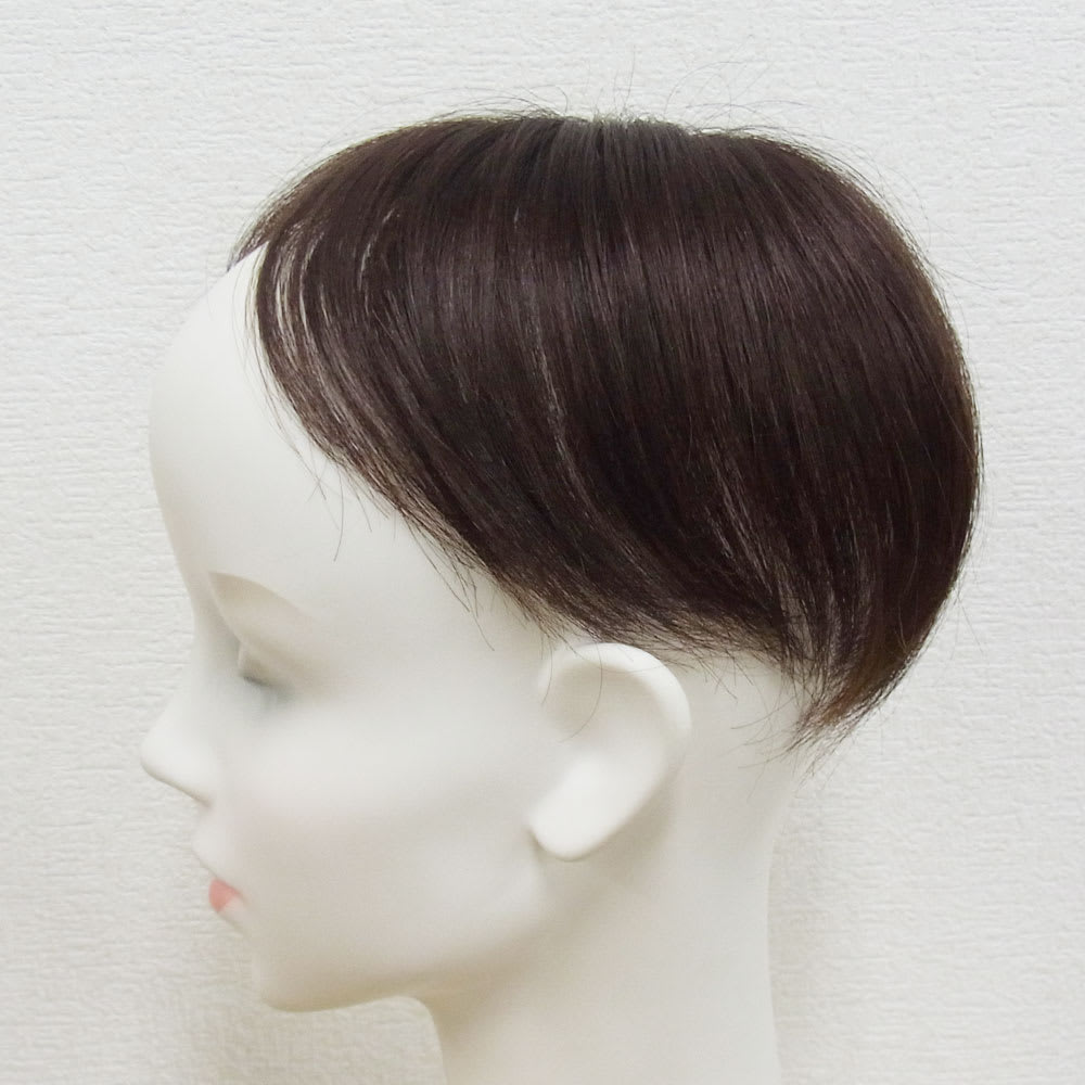 人毛100%地肌付き分け目ピース 商品本体画像。トップだけの部分ウイッグのため、自髪を活かしたヘアアレンジを楽しめます。