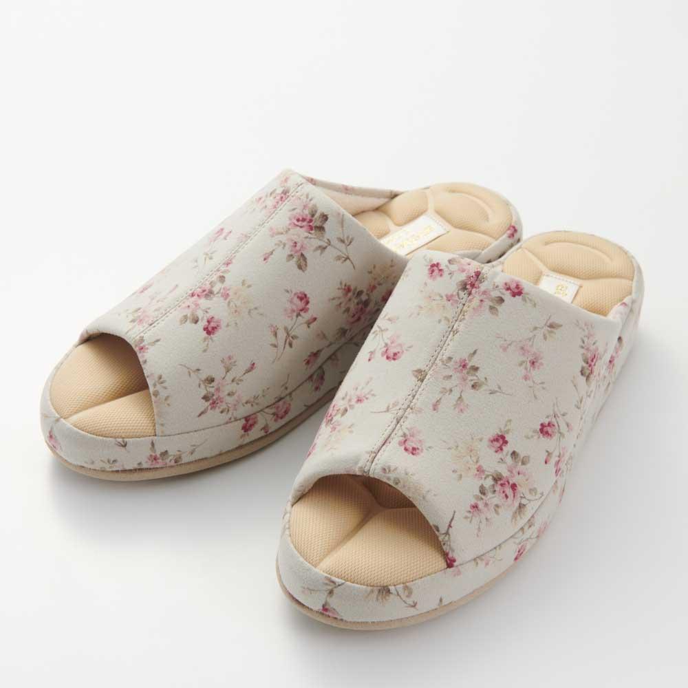 あとりえOKADA 靴屋が作った洗えるルームシューズ (ア)小花・・・柄の出方が写真と異なる場合がございます。