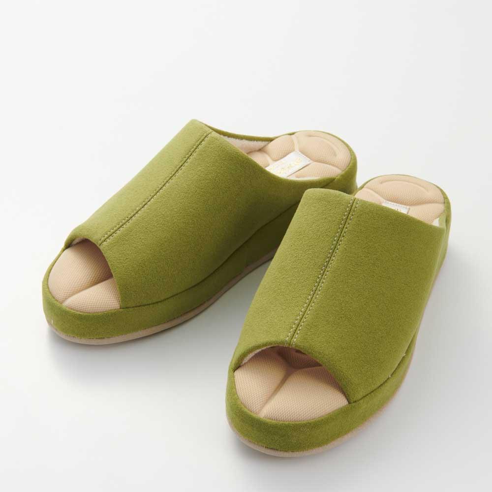 あとりえOKADA 靴屋が作った洗えるルームシューズ (エ)グリーン