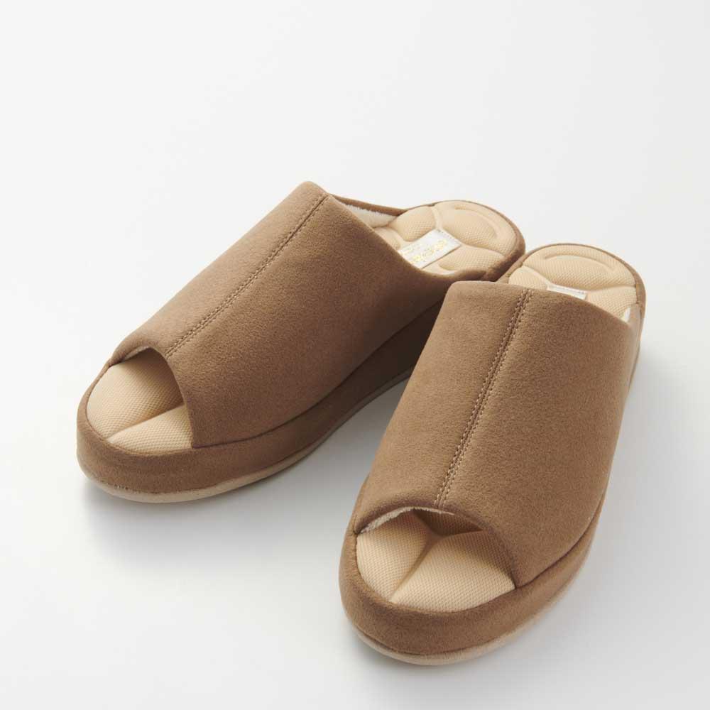 あとりえOKADA 靴屋が作った洗えるルームシューズ (イ)ブラウン